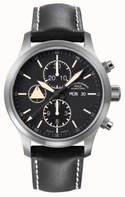 Muhle Glashutte Terranaut I Trail (stainless steel) Synthetic Band Black  Dial M1-40-53-LB