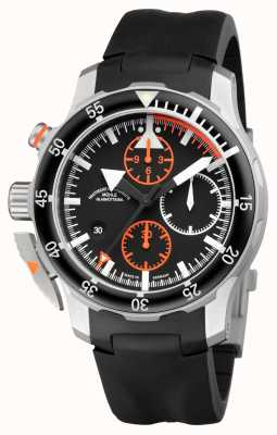 Muhle Glashutte S.A.R. Flieger-Chronograph Indian Rubber Band Black Dial M1-41-33-KB