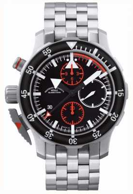 Muhle Glashutte S.A.R. Flieger-Chronograph Stainless Steel Band Black Dial M1-41-33-MB