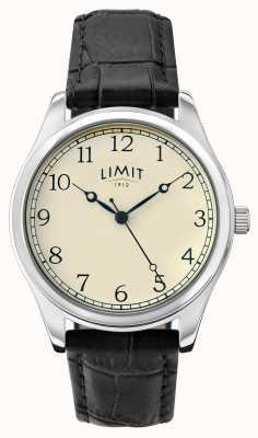 Limit Mens Black Leather Strap Cream Dial 5631.01