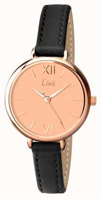 Limit Womens Black Strap Rose Gold Dial 6074.01