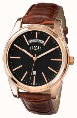 Limit Mens Brown Strap Black Dial 5484.01