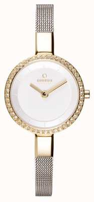 Obaku Womans Gold Case Steel Mesh Strap V129LEGIMC