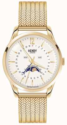 Henry London Mens Moonphase Gold PVD Plated HL39-LM-0160