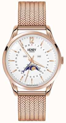 Henry London Mens Moonphase Rose Gold PVD Plated HL39-LM-0162