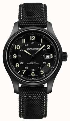 Hamilton Mens Khaki Field Titanium Auto Black Dial H70575733