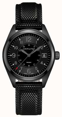Hamilton Mens Khaki Field Black Material Black Dial H68401735
