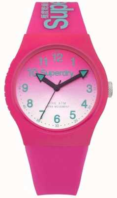 Superdry Unisex Urban Laser Pink And Pink Rubber Strap SYL198PN