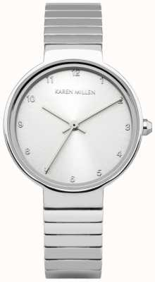 Karen Millen Womens Stainless Steel Silver Dial KM131SM