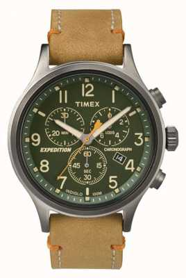 Timex Mens Scout Chronograph Green Dial TW4B04400