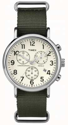 Timex Unisex Weekender Chronograph Cream Dial TW2P71400