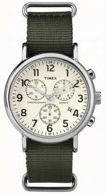 Timex Unisex Weekender Chronograph Cream Dial TW2P71400