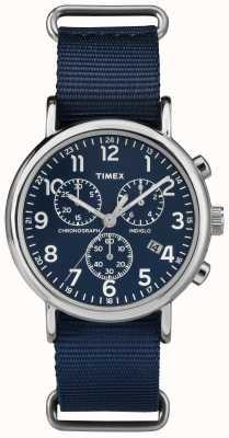 Timex Unisex Weekender Chronograph Navy Blue TW2P71300