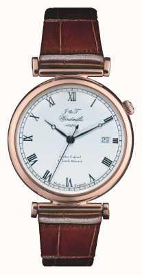 J&T Windmills Mens Bartholomew Mechanical Rose Gold Watch WGS50001/01