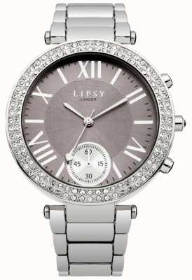 Lipsy Womens Stainless Steel Bracelet Grey Dial LP453