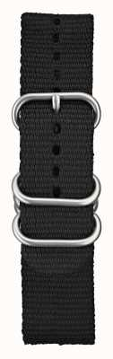 Elliot Brown Mens 22mm Black Ballistic Nylon Brushed Hardware STR-N03