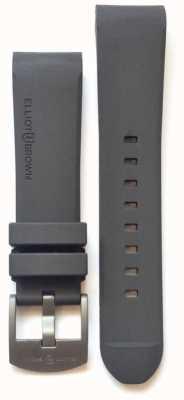 Elliot Brown Mens 22mm Grey Rubber Steel Tongue Buckle STR-R02