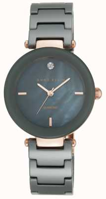 Anne Klein Womens Ceramic Strap Black Mother Of Pearl Dial AK/N1018RGGY
