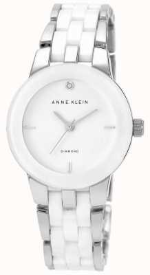 Anne Klein Womens White Ceramic Strap White Dial AK/N1611WTSV