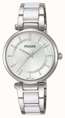 Pulsar Womans Stainless Steel And White Watch PH8191X1