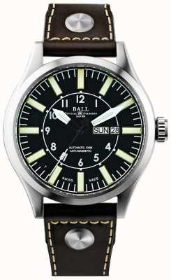 Ball Watch Company Mens Engineer Master II Company Aviator Automatic Leather NM1080C-L3-BK