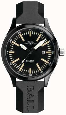 Ball Watch Company Fireman Night Train Automatic Rubber Strap Black Dial NM2092C-P-BK