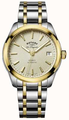Rotary Womens Legacy Automatic | Two-Tone Stainless Steel/PVD Strap LB90166/03