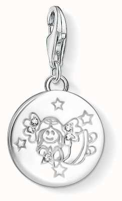 Thomas Sabo Women-Charm Pendant Little Angel Charm Club 925 Sterling silver Zirconia White 1389-051-14 oi8n4sd