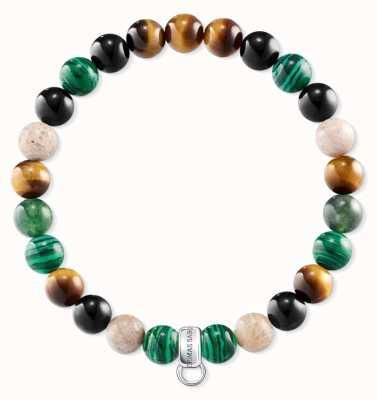 Thomas Sabo Green Brown Black Sterling Silver Bracelet X0217-947-7-L18,5
