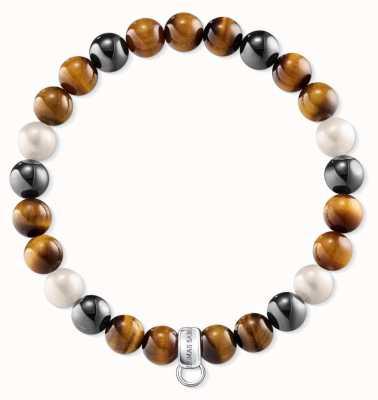 Thomas Sabo Green Brown Black Sterling Silver Bracelet X0218-948-2-L18,5