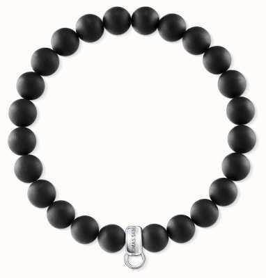 Thomas Sabo Sterling Silver Obsidan Bracelet X0219-023-11-L18,5