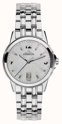 Michel Herbelin Ambassador Womans Stainless Steel City Mother Of Pearl Dial 14250/B19