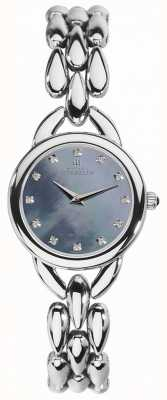 Michel Herbelin Womans Waterfall Blue Mother Of Pearl Cubic Zirconia Dial 17475/B60