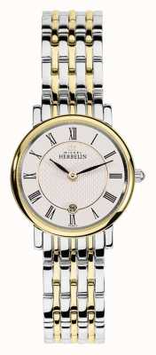 Michel Herbelin Womans Two Tone Stainless Steel Gold Silver Strap 16945/BT01