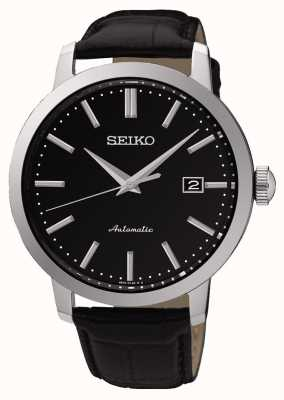 Seiko Mens Automatic Black Face Black Leather SRPA27K1
