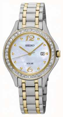 Seiko Womens Solar Mother Of Pearl Dial SUT312P9
