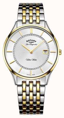 Rotary Mens two Tone Bracelet ultra slim GB90801/02