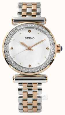 Seiko Womens Two Tone Rose Gold SRZ466P1