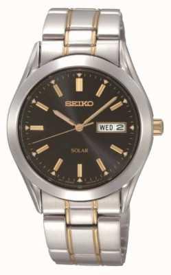 Seiko Mens Solar Bracelet Watch SNE047P9