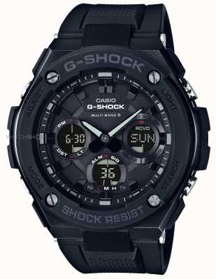Casio Mens G-Steel Chronograph Alarm Black Rubber Strap GST-W100G-1BER