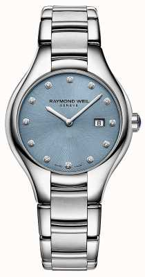 Raymond Weil Womans Noemia 12 Diamond Blue Dial 5132-ST-50081
