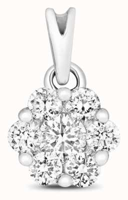 Treasure House 9ct White Gold Diamond Cluster Pendant Only PD155W