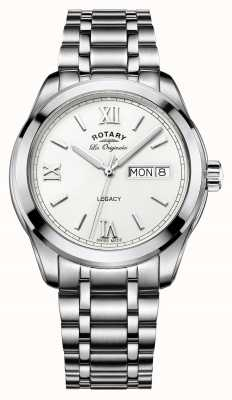 Rotary Rotary Men's Legacy Day Date Stainless Steel Bracelet GB90173/01