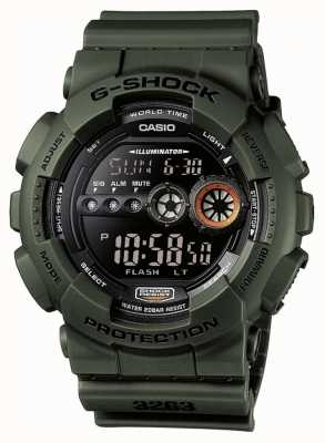 Casio Mens G-shock Chronograph Green GD-100MS-3ER