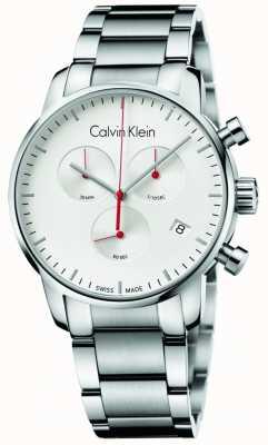 Calvin Klein Mens Stainless Steel City Chronograph Watch K2G271Z6
