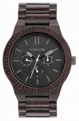 WeWood Mens Kappa Black Wooden Black Strap Ex-Display 70315300 Ex-Display