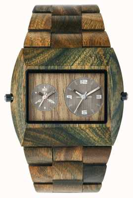 WeWood Mens Jupiter RS Army Wooden Strap 70331100