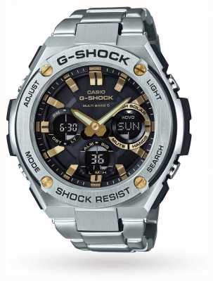 Casio Mens G-Steel Chronograph Alarm Stainless Steel GST-W110D-1A9ER