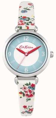 Cath Kidston Ladies Kew Sprig Floral Cream Leather Watch CKL020CS