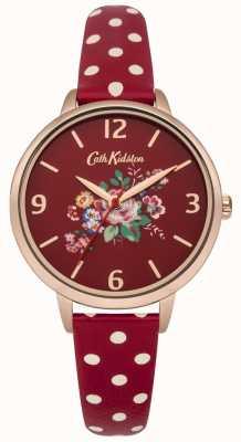 Cath Kidston Cath Kidston Briar Rose Red Polka Dot Strap Watch CKL004RRG